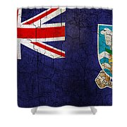 Grunge Falkland Islands Flag Shower Curtain