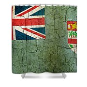 Grunge Fiji Flag Shower Curtain