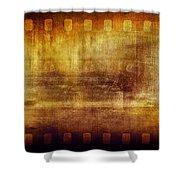 Grunge Filmstrip Shower Curtain