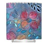 Grunge Floral II Shower Curtain