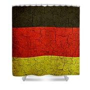 Grunge German Flag Shower Curtain