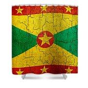 Grunge Grenada Flag Shower Curtain