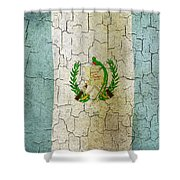 Grunge Guatemala Flag Shower Curtain