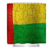 Grunge Guinea-bissau Flag Shower Curtain