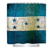 Grunge Honduras Flag Shower Curtain