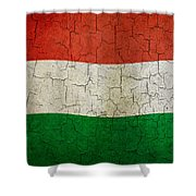 Grunge Hungary Flag Shower Curtain
