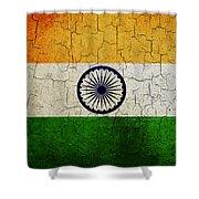 Grunge India Flag Shower Curtain
