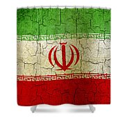 Grunge Iran Flag Shower Curtain