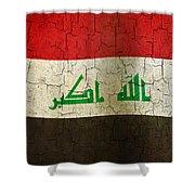 Grunge Iraq Flag Shower Curtain