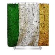 Grunge Ireland Flag Shower Curtain