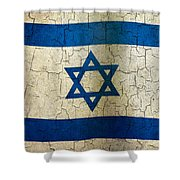 Grunge Israel Flag Shower Curtain