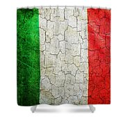 Grunge Italy Flag Shower Curtain