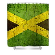 Grunge Jamaica Flag Shower Curtain
