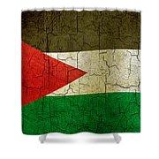 Grunge Jordan Flag Shower Curtain
