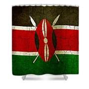 Grunge Kenya Flag Shower Curtain