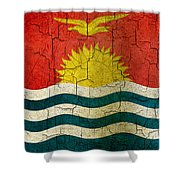 Grunge Kiribati Flag Shower Curtain