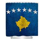 Grunge Kosovo Flag Shower Curtain