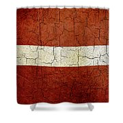 Grunge Latvia Flag Shower Curtain