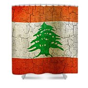 Grunge Lebanon Flag Shower Curtain