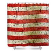 Grunge Liberia Flag Shower Curtain