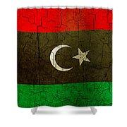 Grunge Libya Flag Shower Curtain