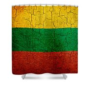 Grunge Lithuania Flag Shower Curtain