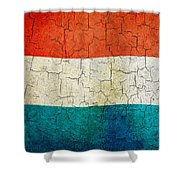 Grunge Luxembourg Flag Shower Curtain
