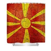 Grunge Macedonia Flag Shower Curtain