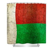 Grunge Madagascar Flag Shower Curtain