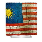 Grunge Malasia Flag  Shower Curtain