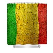 Grunge Mali Flag Shower Curtain