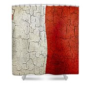 Grunge Malta Flag Shower Curtain
