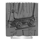 Grunge Mine Trolley Patent Shower Curtain