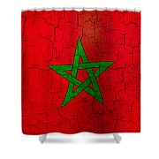 Grunge Morocco Flag Shower Curtain