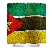 Grunge Mozambique Flag Shower Curtain