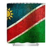 Grunge Namibia Flag Shower Curtain