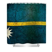Grunge Nauru Flag Shower Curtain