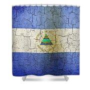 Grunge Nicaragua Flag Shower Curtain