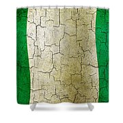 Grunge Nigeria Flag Shower Curtain
