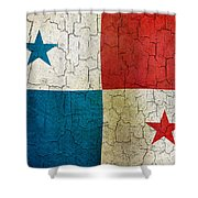 Grunge Panama Flag Shower Curtain