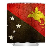 Grunge Papua New Guinea Flag Shower Curtain