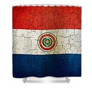 Grunge Paraguay Flag Shower Curtain