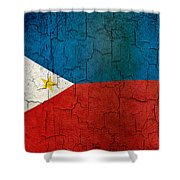 Grunge Philippines Flag Shower Curtain