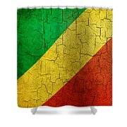Grunge Republic Of The Congo Flag Shower Curtain