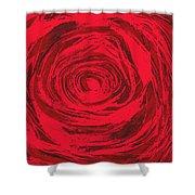 Grunge Rose Shower Curtain
