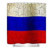 Grunge Russia Flag Shower Curtain