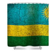 Grunge Rwanda Flag Shower Curtain