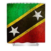 Grunge Saint Kitts And Nevis Flag Shower Curtain
