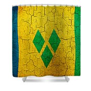 Grunge Saint Vincent And The Grenadines Flag Shower Curtain