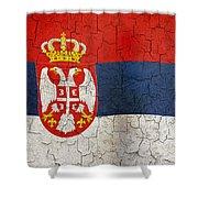 Grunge Serbia Flag Shower Curtain